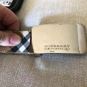 Burberry Unisex Haymarket Coated Belt